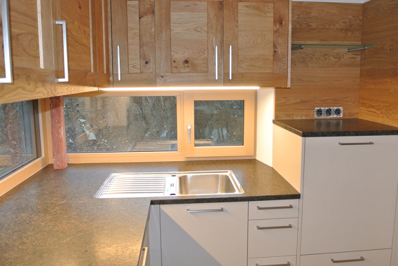 Moderne Echtholz-Küche